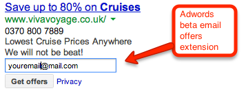 Adwords email offers exstenion