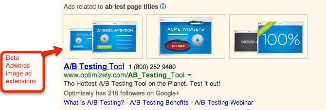 Adwords image ad extensions