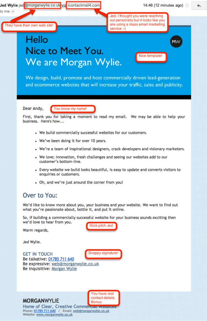 Spam SEO email 3