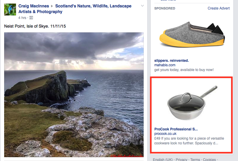Facebook remarketing ads